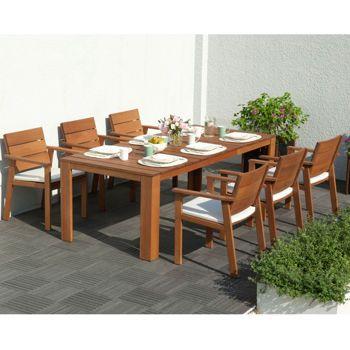 Costco: Nelson 7-Piece Natural Eucalyptus Dining Set ...