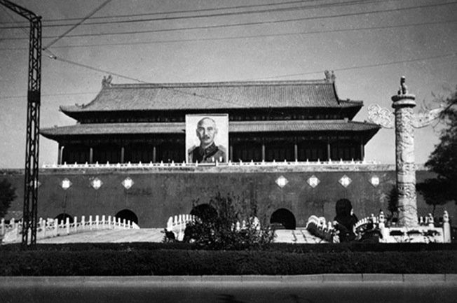 Mao Zedong Was Not The First To Have His Picture Over Tiananmen An Image Of Chiang Kai Shek Once Hung In Same Spot