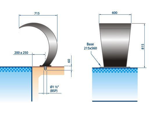 Modelos de cascatas para piscinas qual a melhor for Modelos de piscinas cuadradas