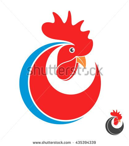 Rooster. Symbol of New Year 2017. Logo