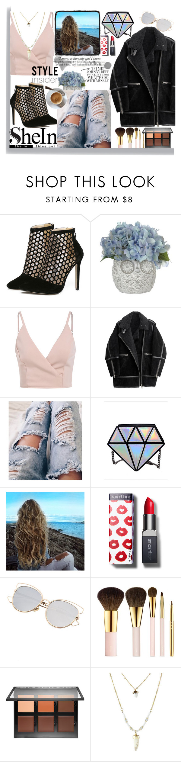 """#1 Shein"" by quynhhoa19 ❤ liked on Polyvore featuring H&M, Smashbox, AERIN, Anastasia Beverly Hills, Vanity Fair, contest, ootd and shein"