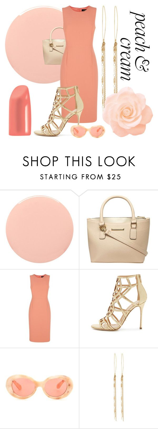 """Peach & Cream "" by stels-kal ❤ liked on Polyvore featuring Smith & Cult, Dorothy Perkins, Jaeger, Sergio Rossi, Acne Studios and Lydell NYC"