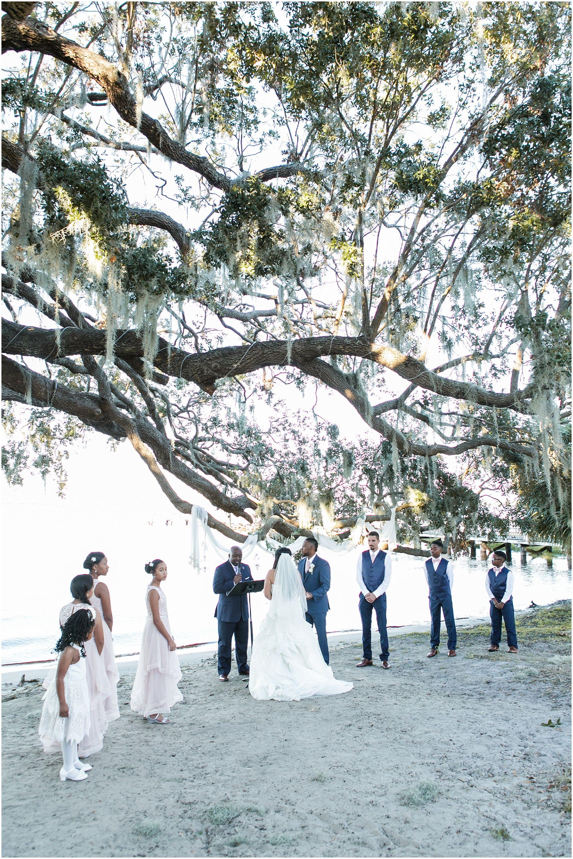 Intimate lakeside wedding clermont florida katreena rod