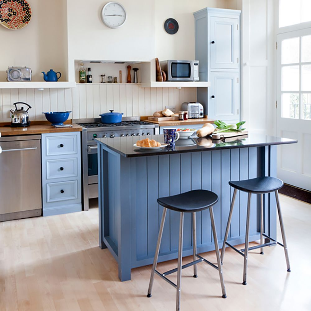 Small kitchen design ideas | Blue walls, Kitchens and Walls