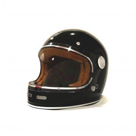 Vintage Motorcycle Helmet Integral Marko Full Moon Black Vintage Motorcycles Helmet Motorcycle Helmets Vintage