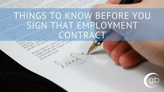 Things To Know Before You Sign That Employment Contract  Job