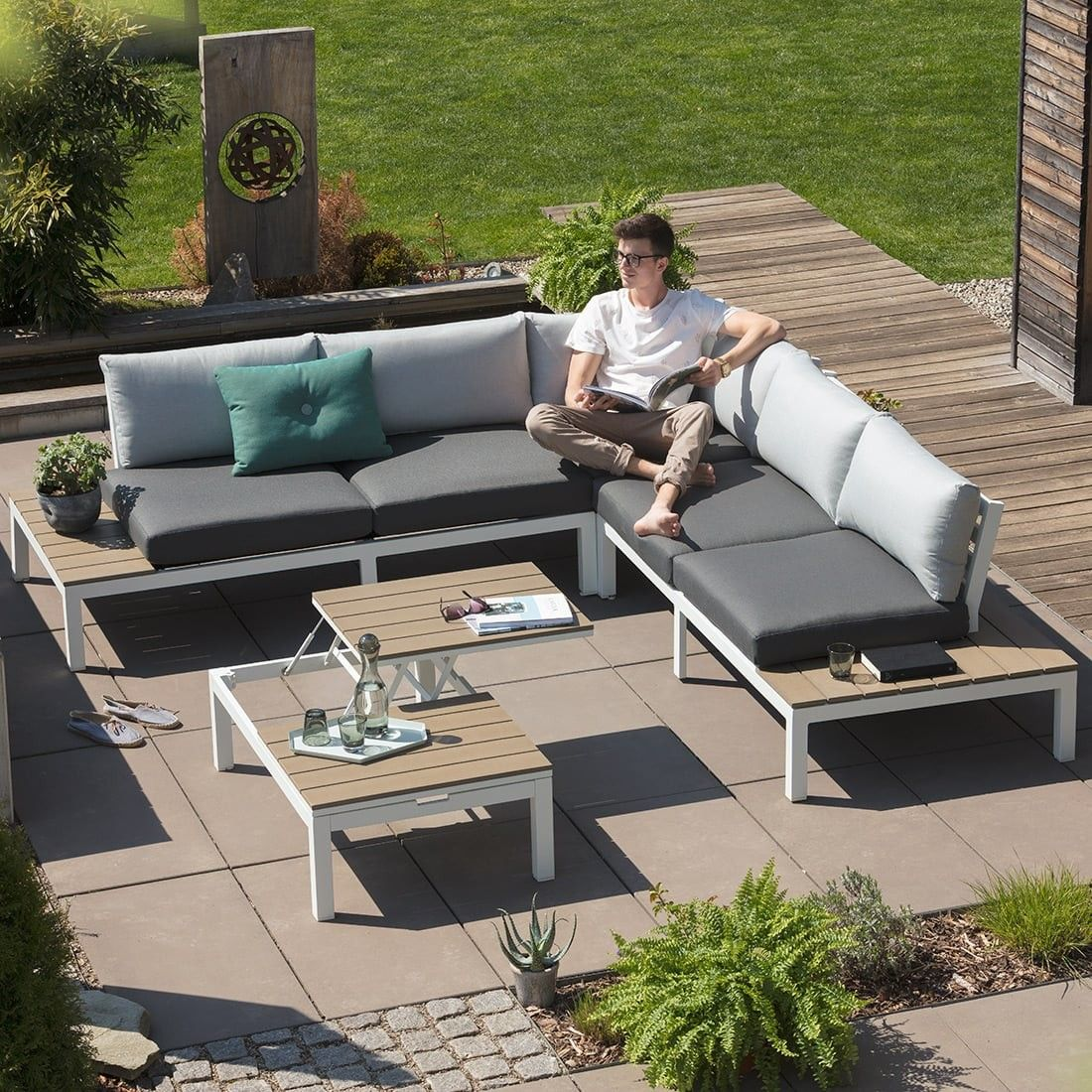 Exklusive Gartenmobel Outliv Hamilton Loungemobel Polyrattan 5 Tlg Loungeset Gartenlounge Lounge Outdoor Lounge Mobel Gartenmobel Lounge Set Garten Lounge Set