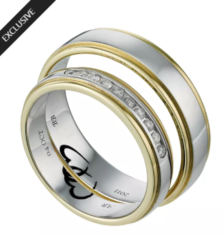 Commitment 18ct Two Colour Gold 1 10 Carat Diamond Ring Set H