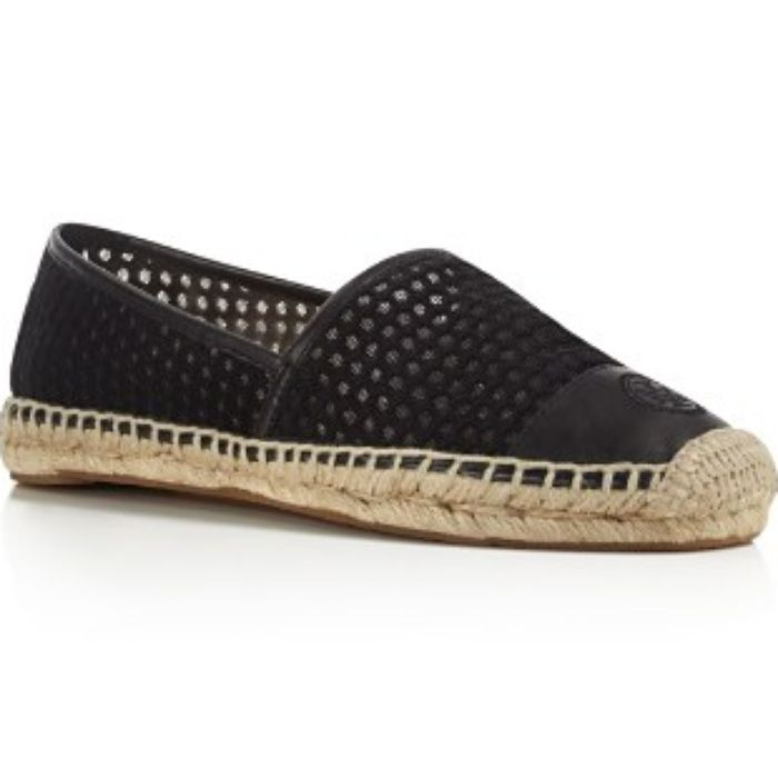 The Ten Best Espadrilles // #3 Tory Burch Grenada Mesh Espadrille Flats //