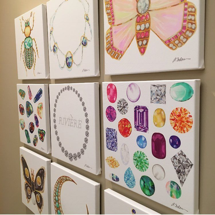 Create a statement wall using multiple canvas or paper