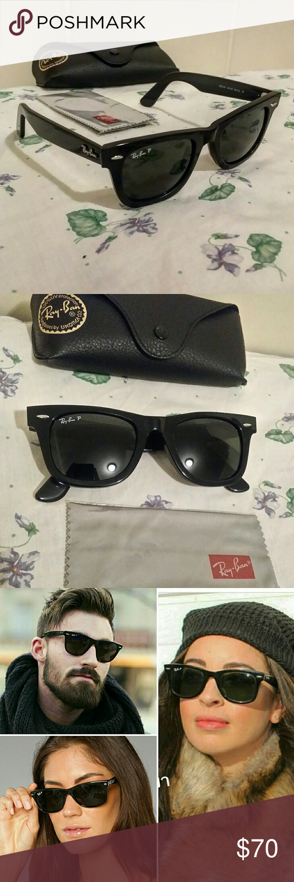 d20f0f2462 ... spain rayban polarized wayfarer sunglasses rayban wayfarer polarized  rb2140 size medium unisex 50mm black frame polarized