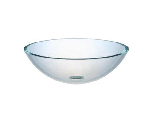 Ambassador Marine Half Sphere Glass Vessel Clear Smooth Glass Sink