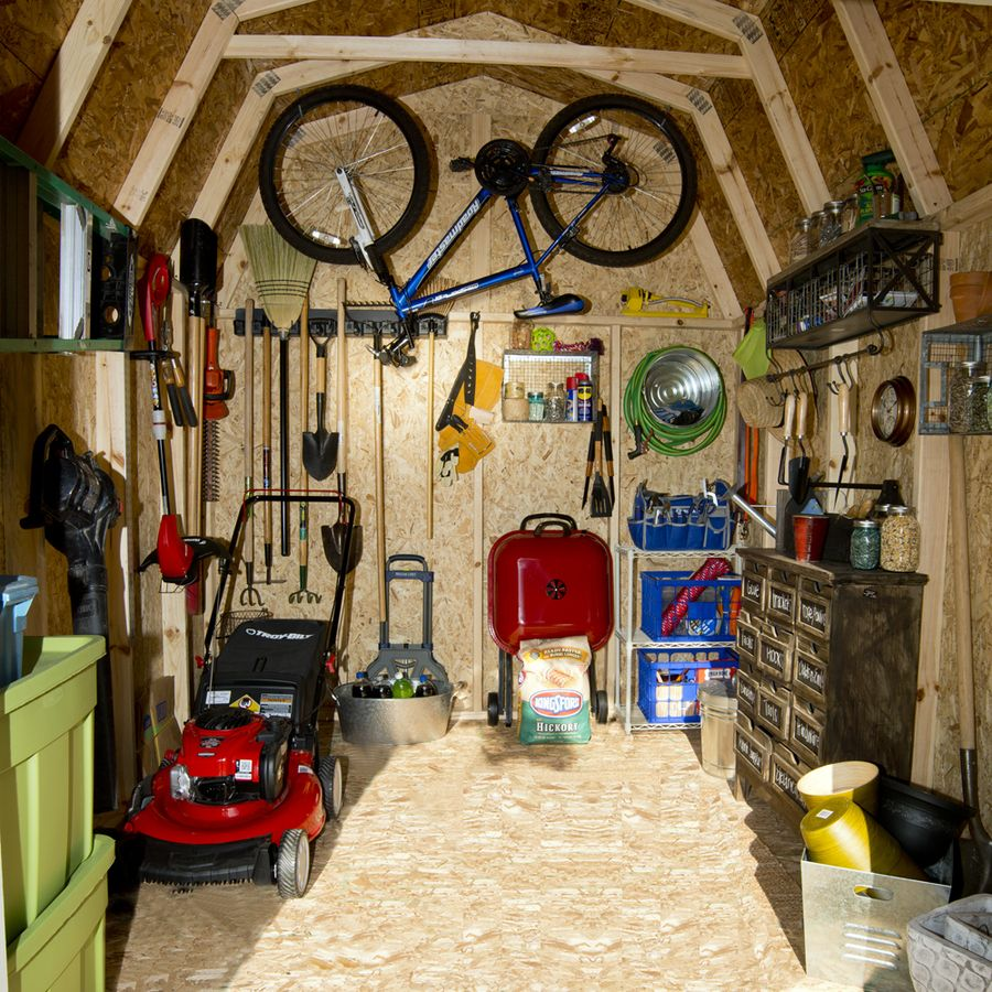Storage Shed Design Ideas: Shop Heartland Ridgeview Gambrel Wood Storage Shed (Common