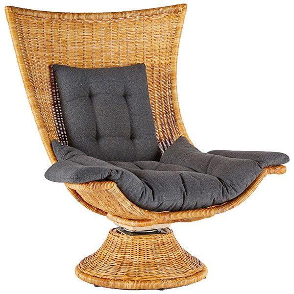 Dot U0026 Bo Kapalua Rattan Swivel Chair Found On Polyvore
