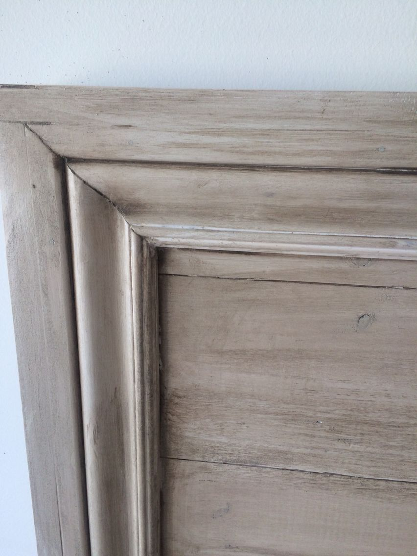 Restoration Hardware Finish. Pickled Oaku2022premixed Grey Stain With Dark  Walnut!