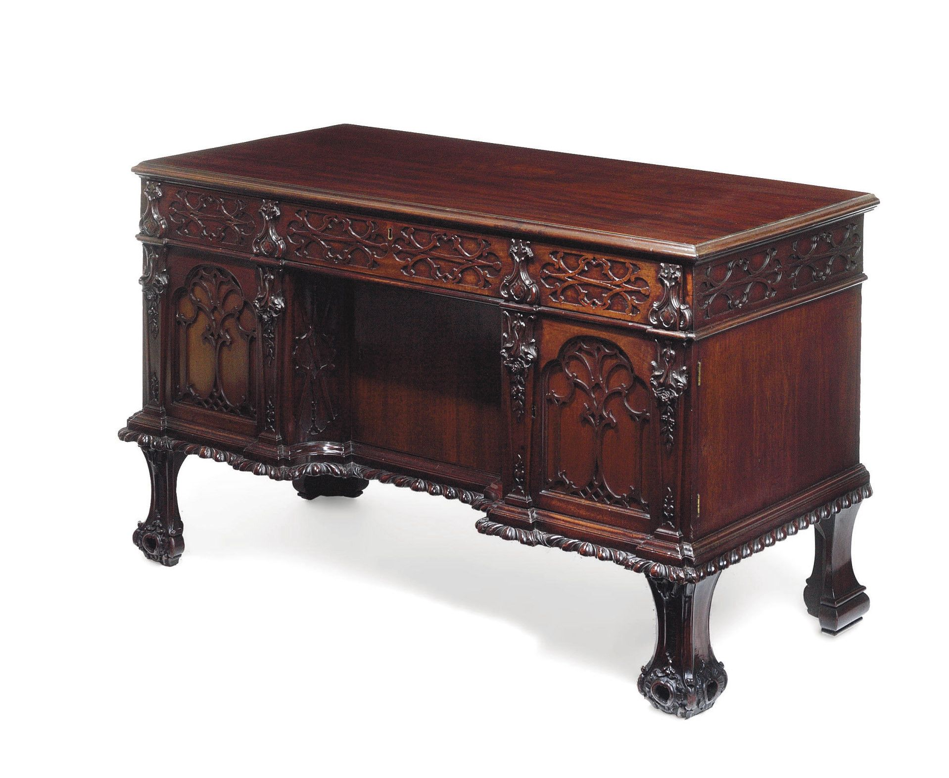 date unspecified A II MAHOGANY DESK ATTRIBUTED TO