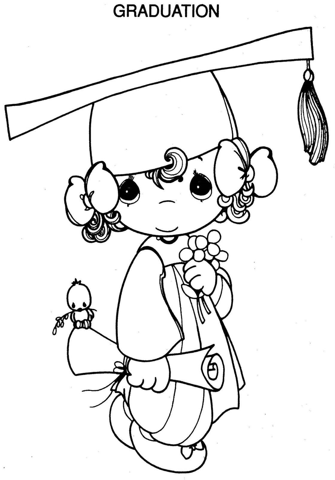 Preciosos Momentos: Graduación para niñas ~ Dibujos para Colorear ...