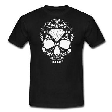 Skull Skullhead Floral Diamond Hipster Swag White T-Shirt   Spreadshirt   ID: 25202427 http://www.spreadshirt.de/skull-skullhead-floral-diamond-hipster-swag-white-t-shirts-C4408A25202427/vp/25202427T6A2PC127671977PA4X54Y46#/detail/25202427T6A2PC127671977PA4X54Y46