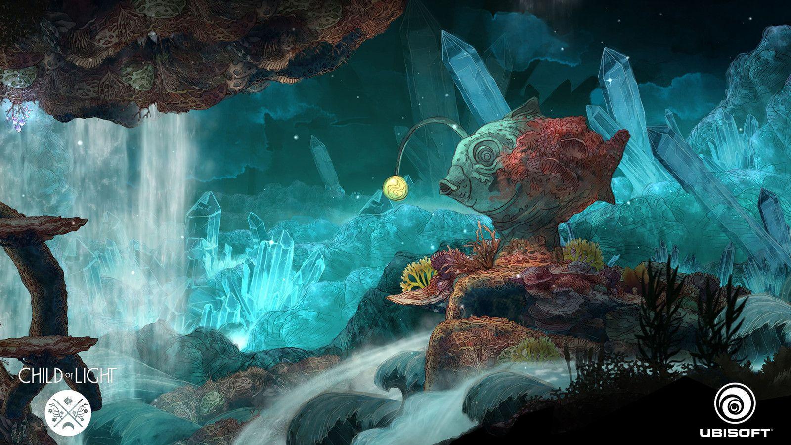 Amazing art work for the wonderful game Child Of Light - Level work, TEO YONG JIN on ArtStation at https://www.artstation.com/artwork/rzDom