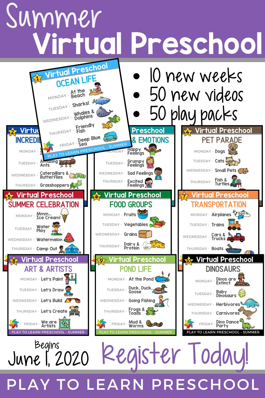 Join Free Virtual Preschool In 2020 Preschool Online Learning Summer Preschool Summer Learning Programs