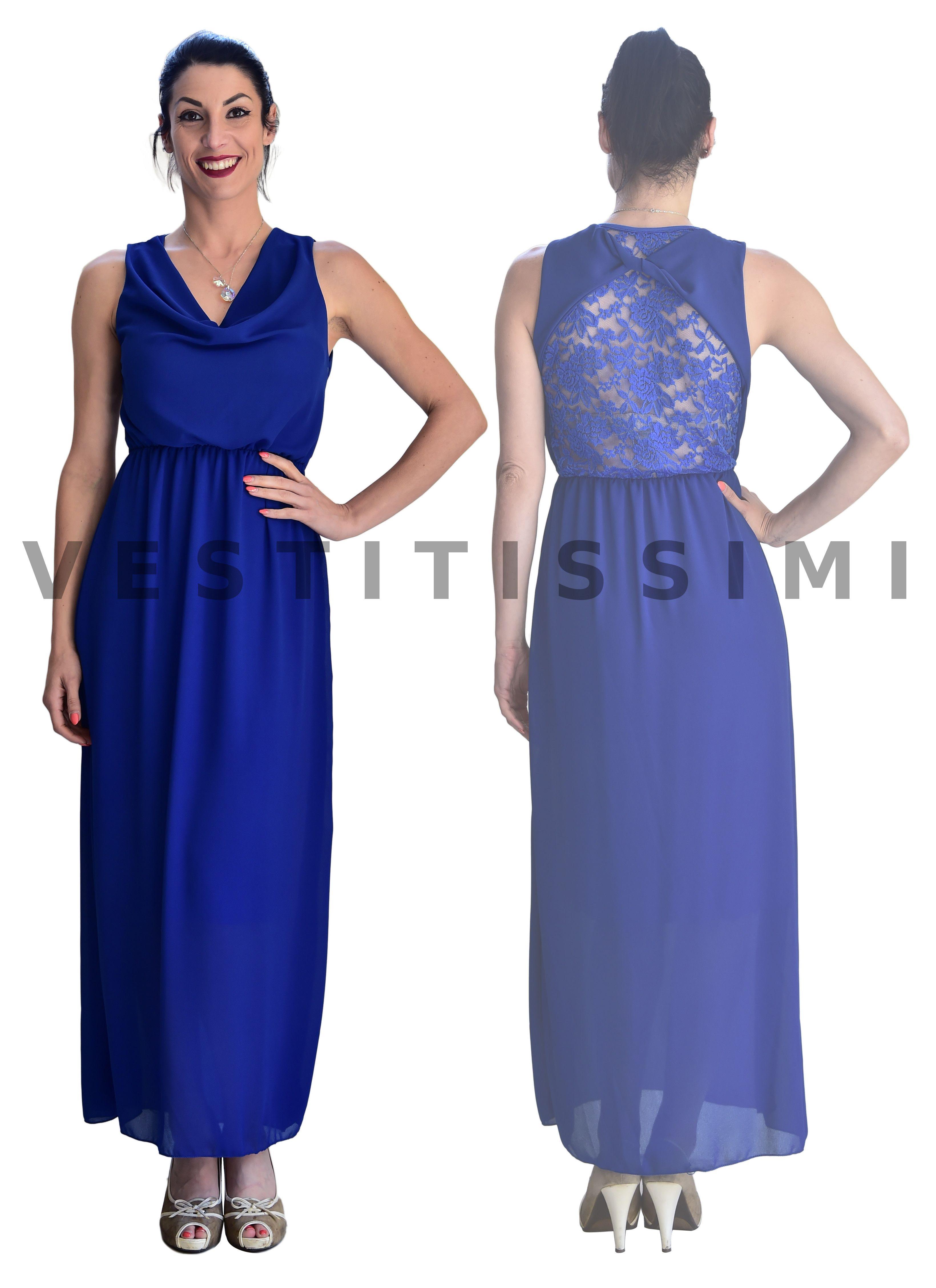 7c905909dc6e Vestito donna lungo elegante abito cerimonia tubino vestitino damigella  sexy Vs7