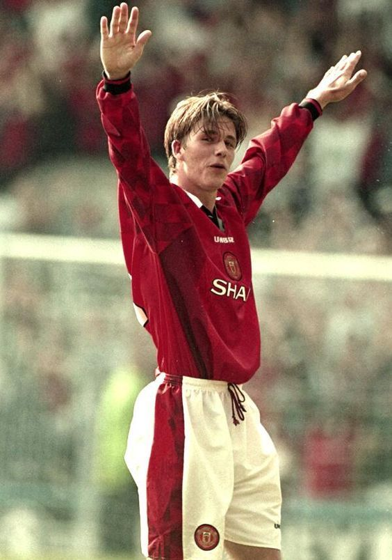 Beckham Celebrates His Famous Goal From Half Way Line