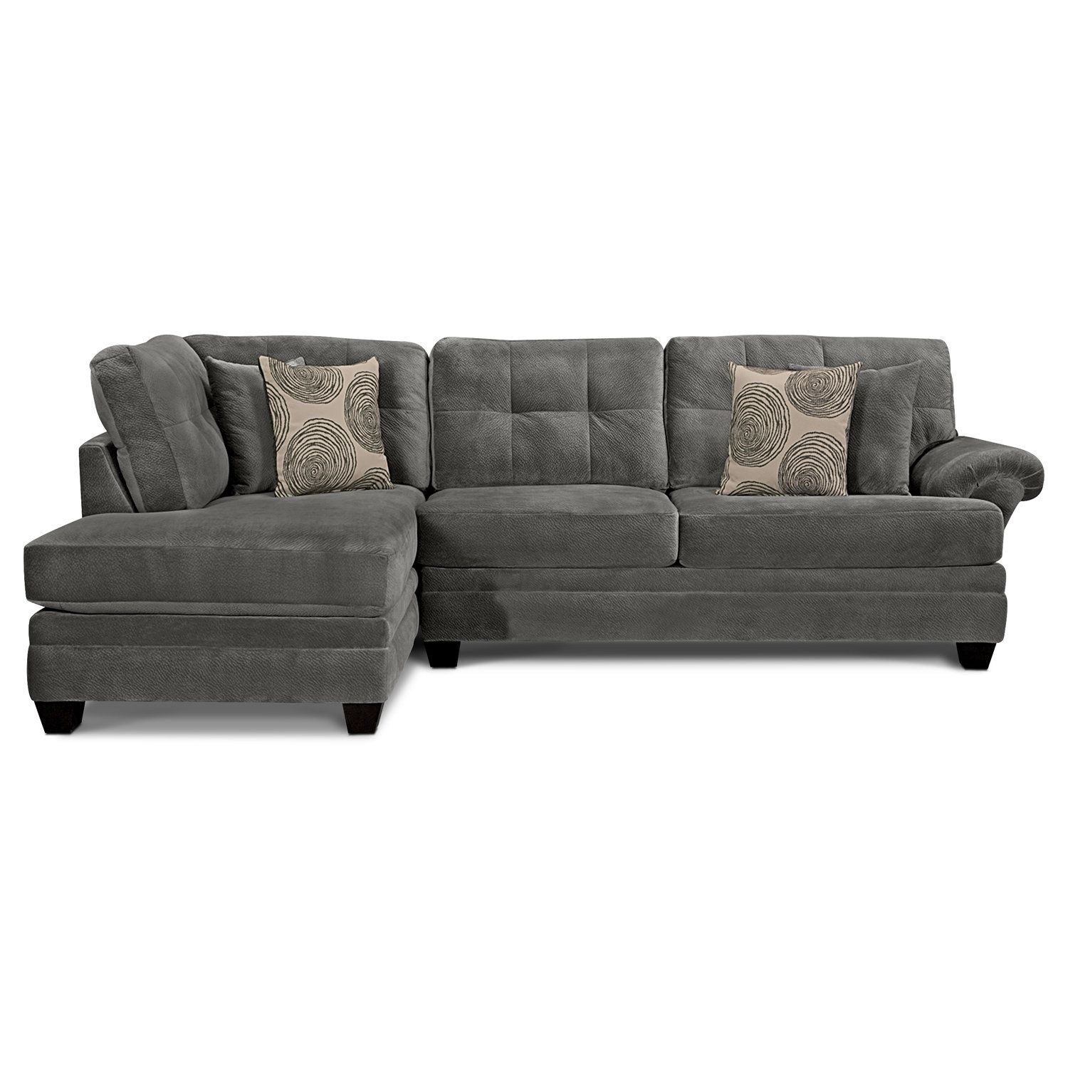 Cordelle 2-Piece Left-Facing Chaise Sectional - Gray | Living room ...
