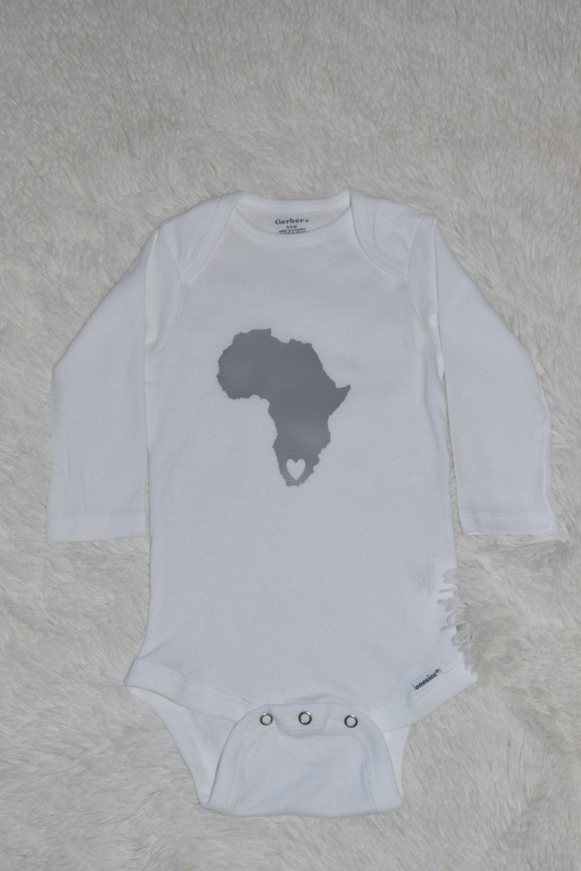 3e09bcd118004 Africa map Onesie, Baby Shower Gift, Newborn onesie, South African ...