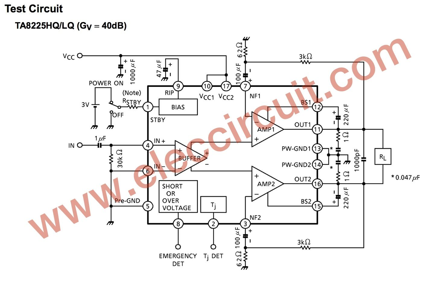 Ta8225 Btl Amplifiers Circuits Electronic Circuit Megabass With Tl072