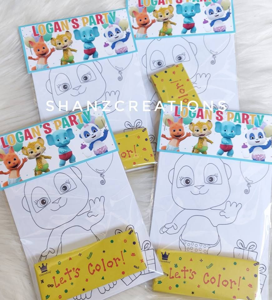 Word Party Mini Favor Bags With Coloring Pages And Crayons Baby Birthday Party Theme Birthday Theme Decoration 1st Birthday Party Themes