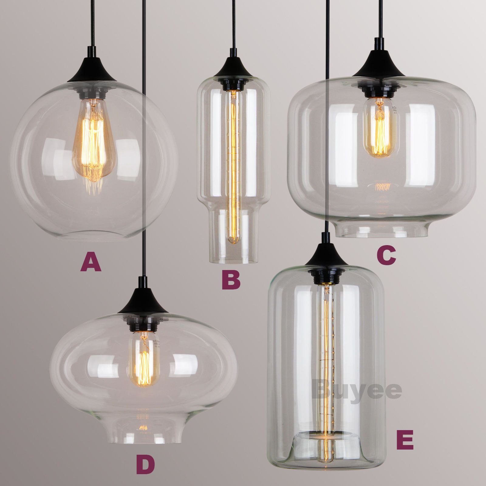 MODERN FASHION INDUSTRIAL GLASS SHADE LOFT CAFE PENDANT LIGHT CEILING LAMP  | EBay
