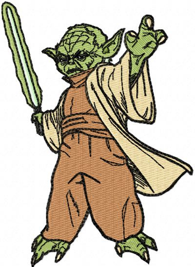 Star Wars Yoda Machine Embroidery Design For Clothes And