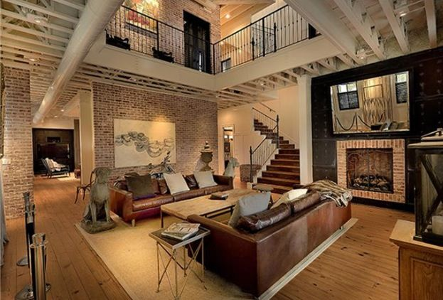 Interior With Chicago Brick And Open Concept The Woodlands TxEast