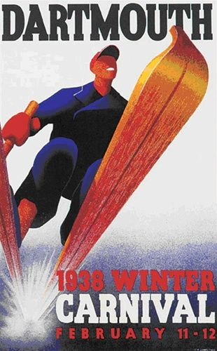 Dartmouth Winter Carnival Ski Poster