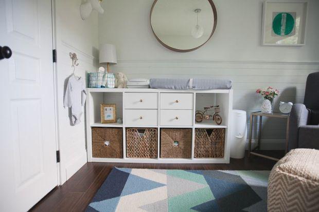 Expedit ikea cambiador y cestos cuarto eva nursery - Ikea muebles bebe ...