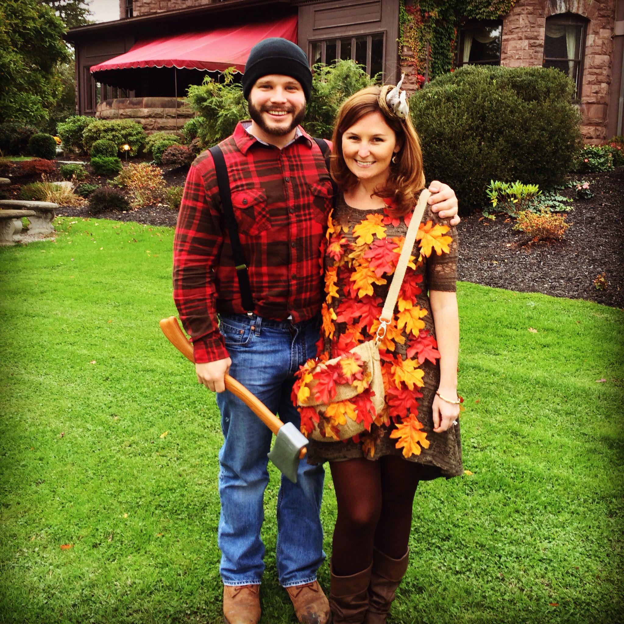 Lumberjack And Tree Halloween Costume
