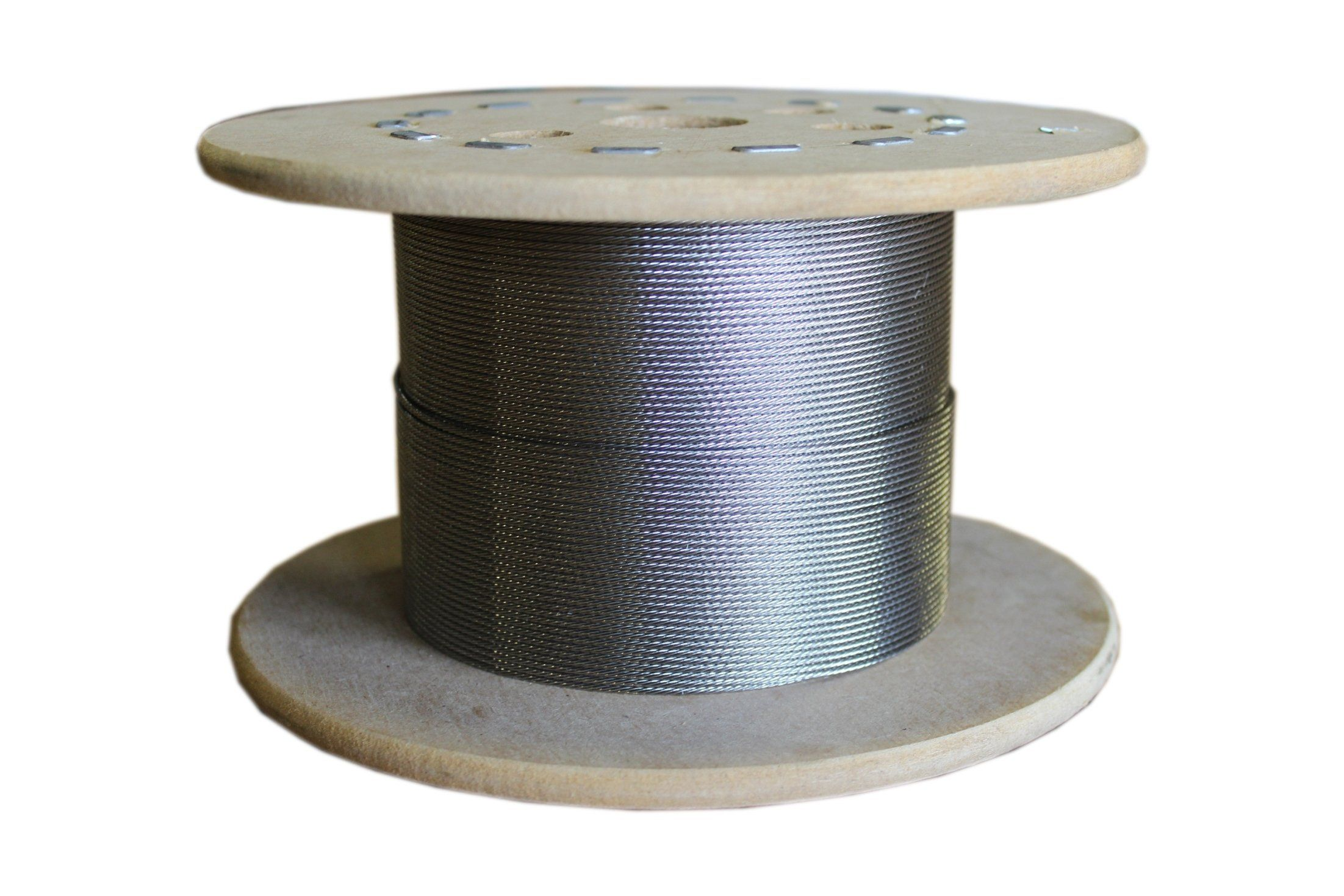 "Loos Stainless Steel 302 304 Wire Rope 1x7 Strand 3 64"" Bare OD"