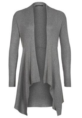 Esprit Collection Neuletakki - cosy grey melange - Zalando.fi