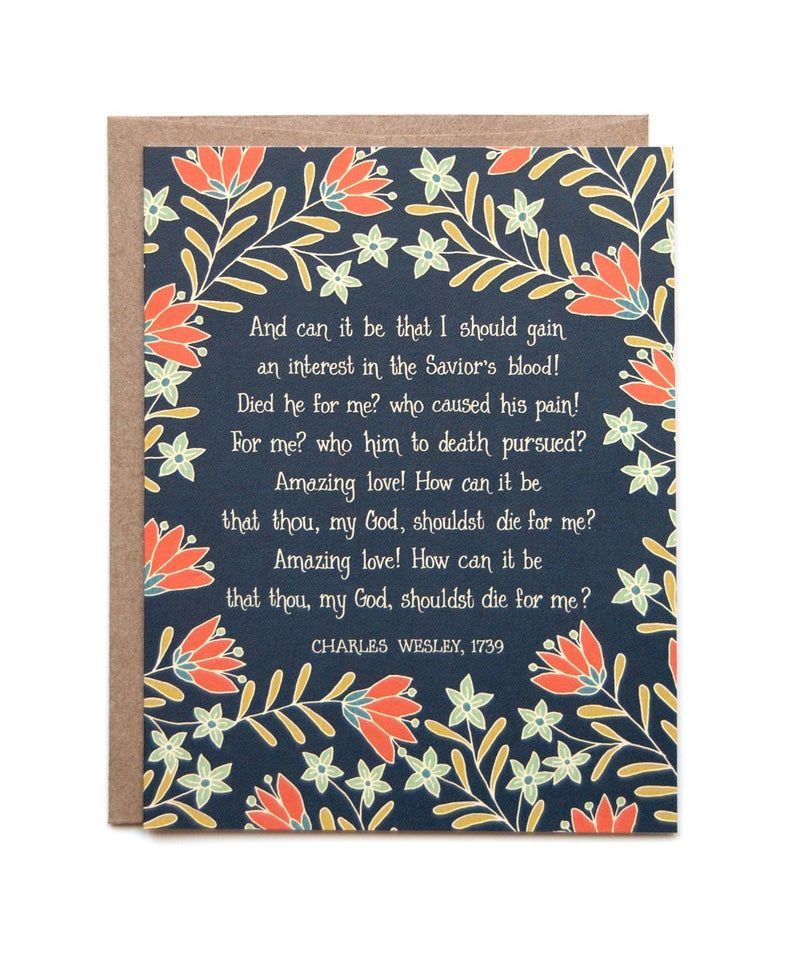 And Can It Be Hymn Greeting Card Birthday Cards To Print