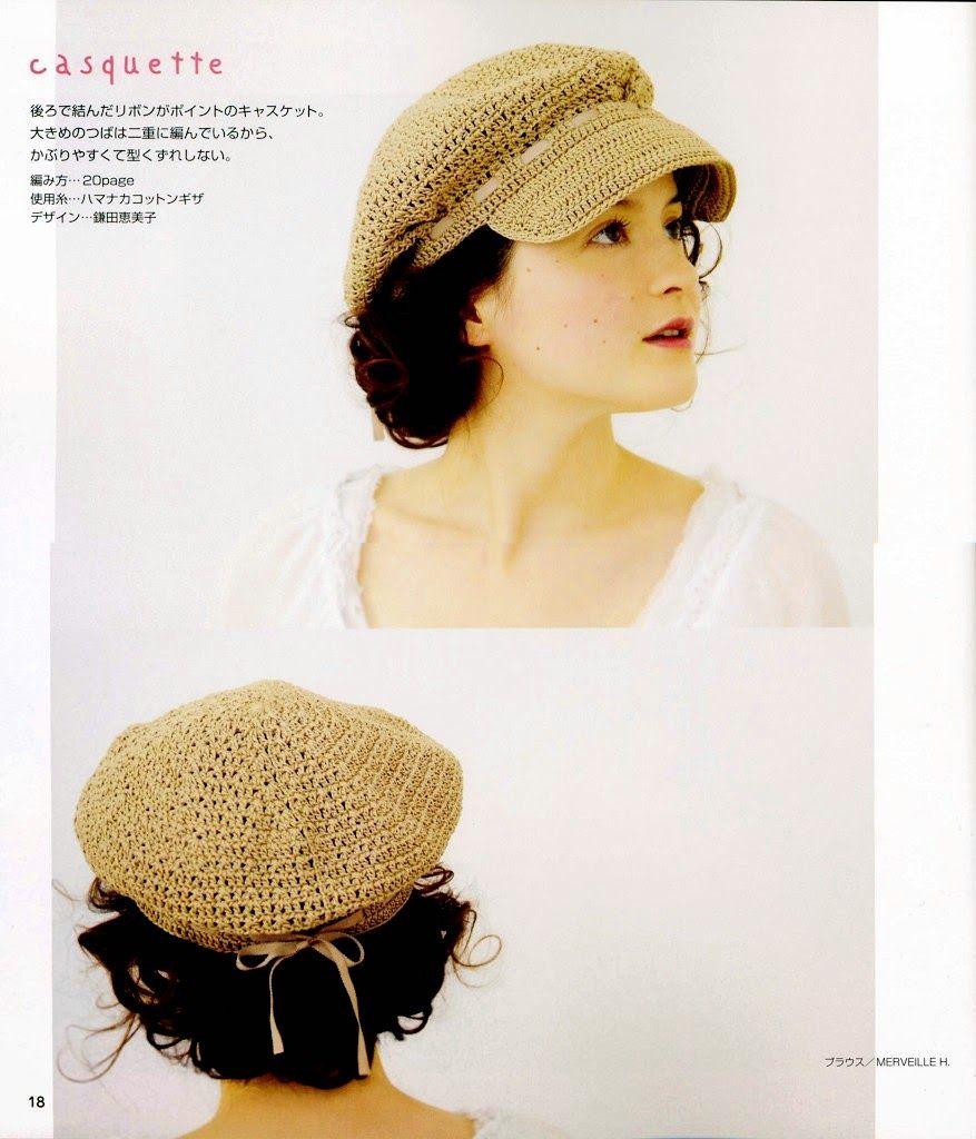 PATRONES GRATIS DE CROCHET: Tierna boina con vicera a crochet ...