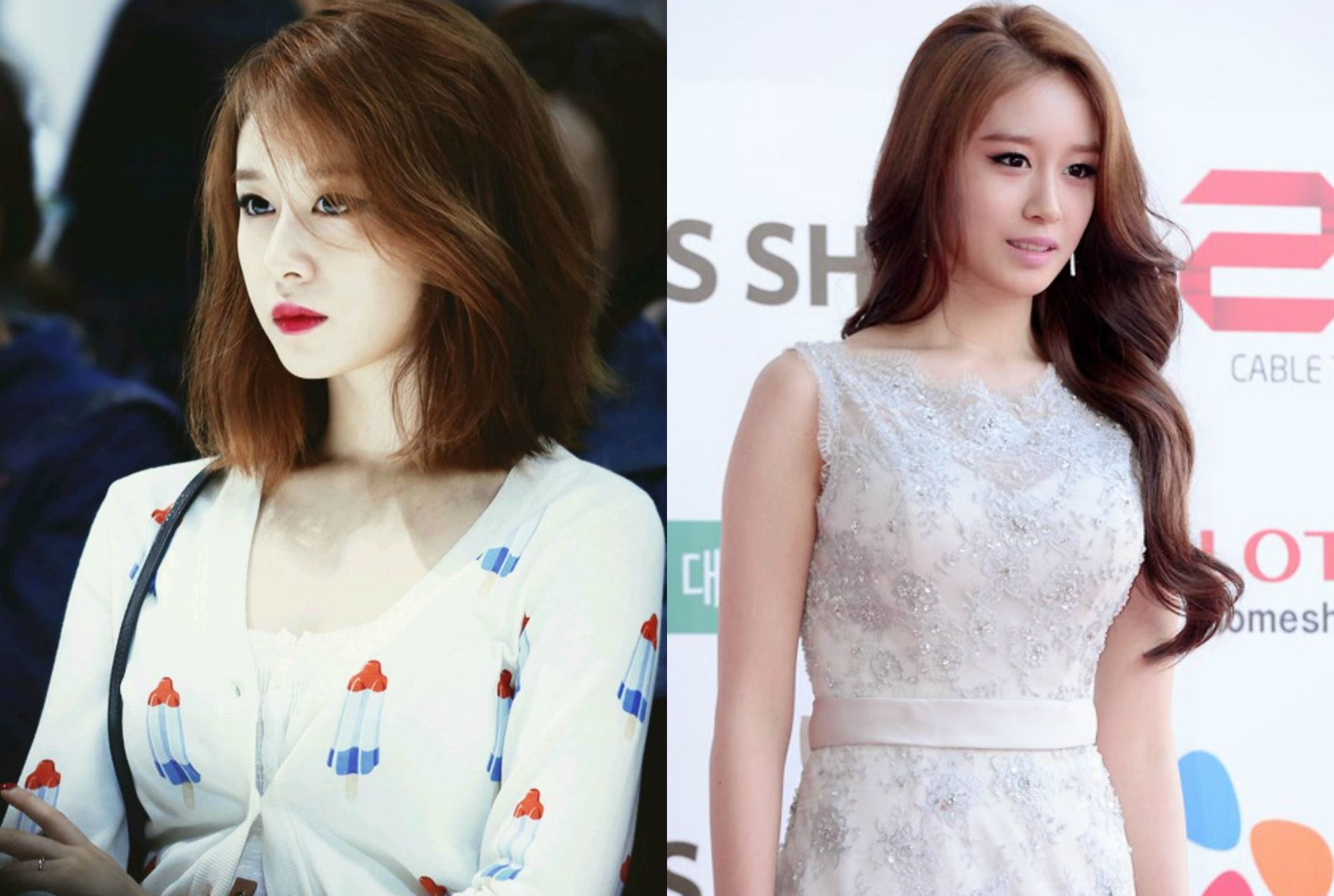 Kpop Girl Group T Ara Jiyeon Haircut Inspirations Kpop Idol Short Vs Long Hair Cute Hairstyles For Short Hair Long Vs Short Hair Haircut Inspiration
