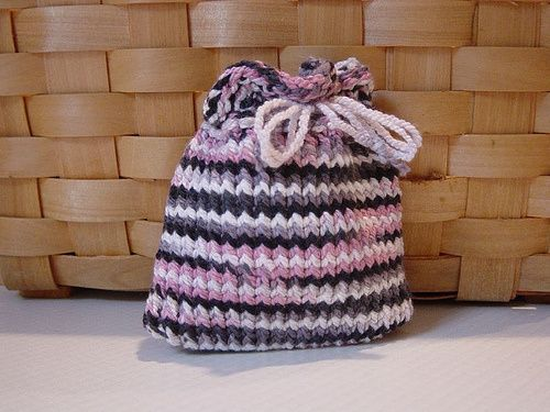 Quick Loom Knitted Gift Pouch Loom Knitting For