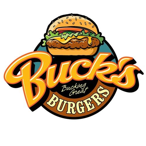 buck 39 s burgers fries shakes needs a bucking awesome logo design by logo inspration logo. Black Bedroom Furniture Sets. Home Design Ideas