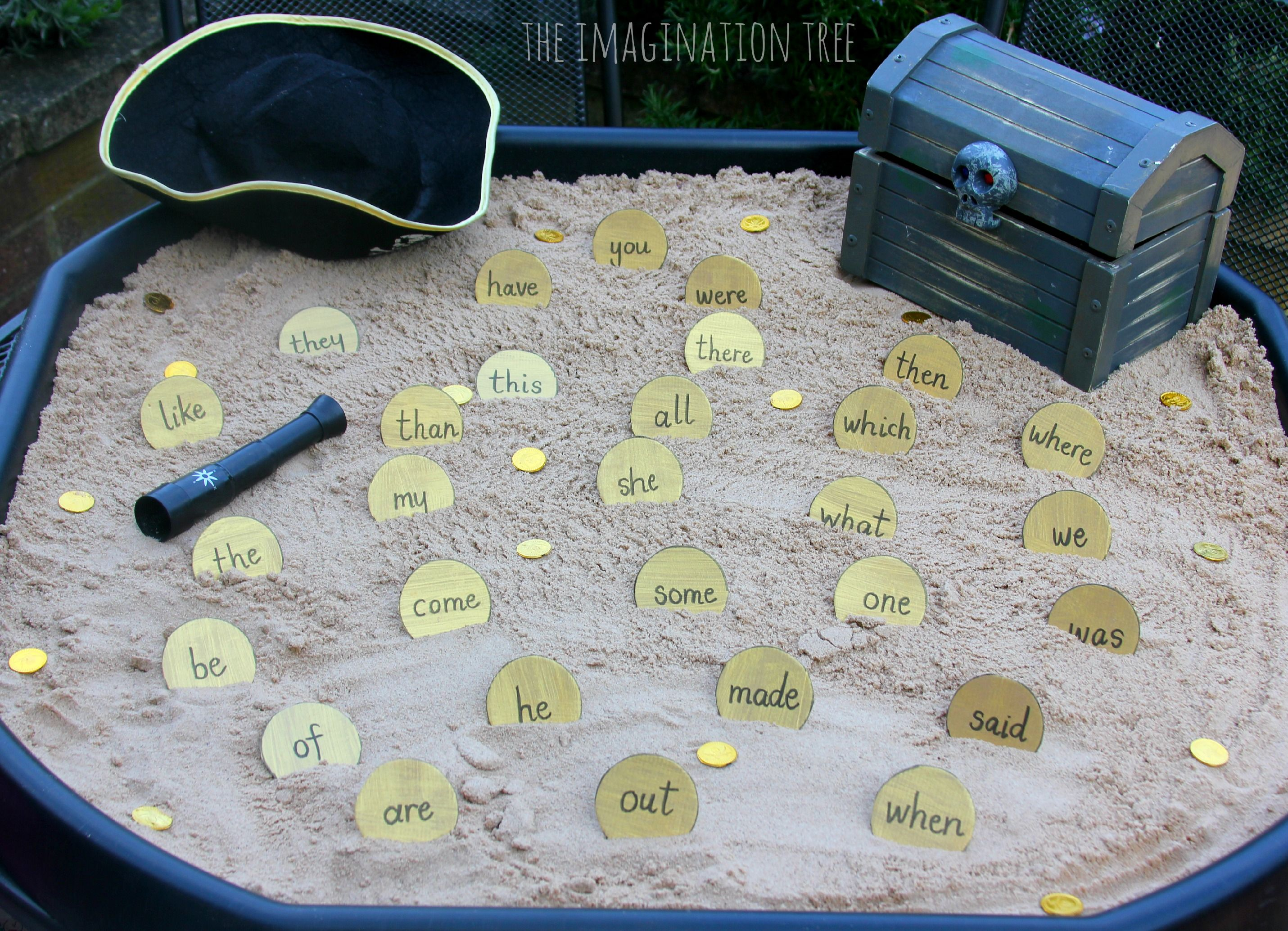 Sight Word Activity Pirate Doubloons Treasure Hunt