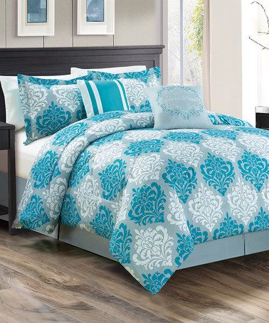 Look What I Found On Zulily Teal Mindy Comforter Set