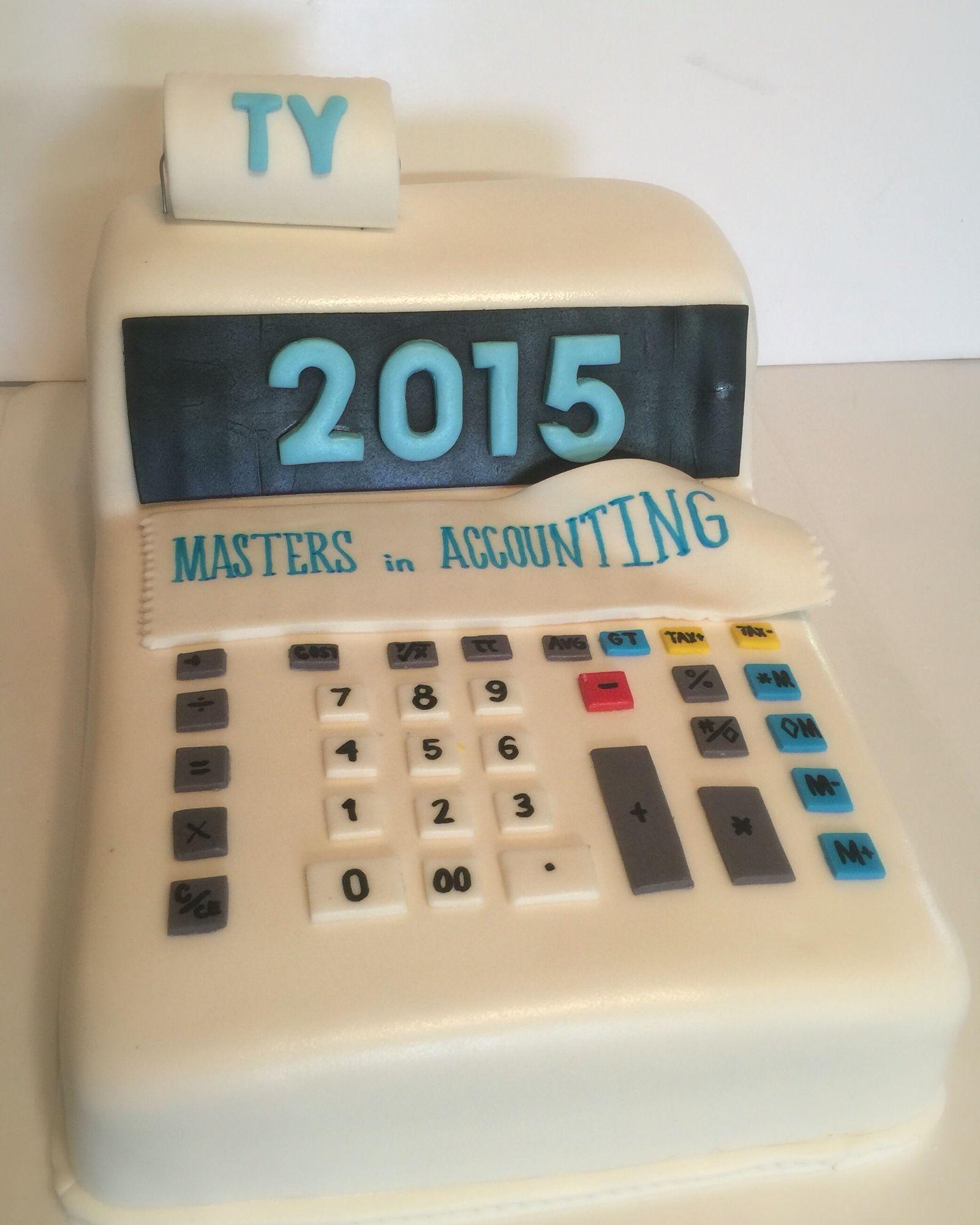 Accounting Calculator Graduation Cake Like us on Facebook