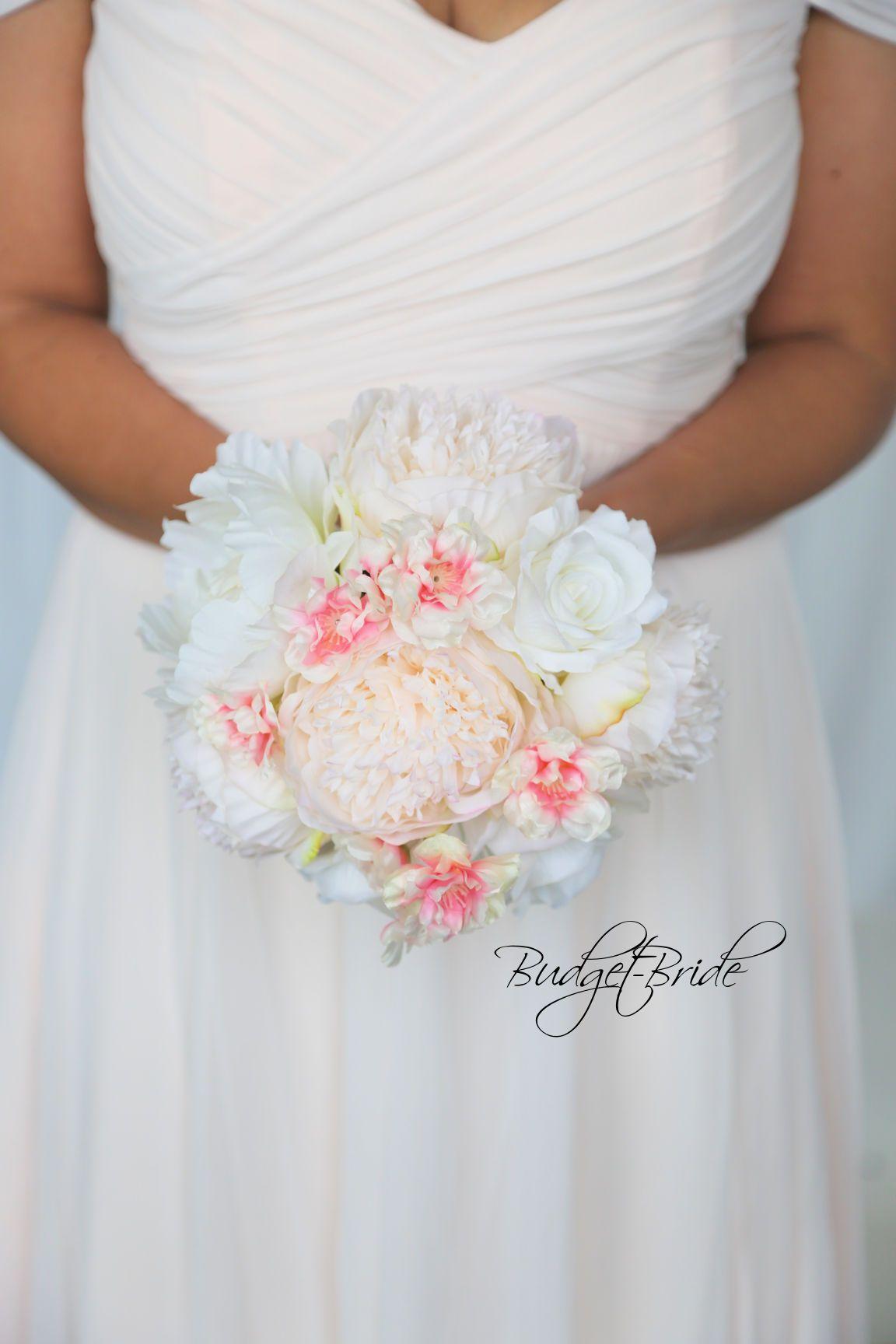 Davids Bridal Cherry Blossom Wedding Bouquet With Bellini Peach