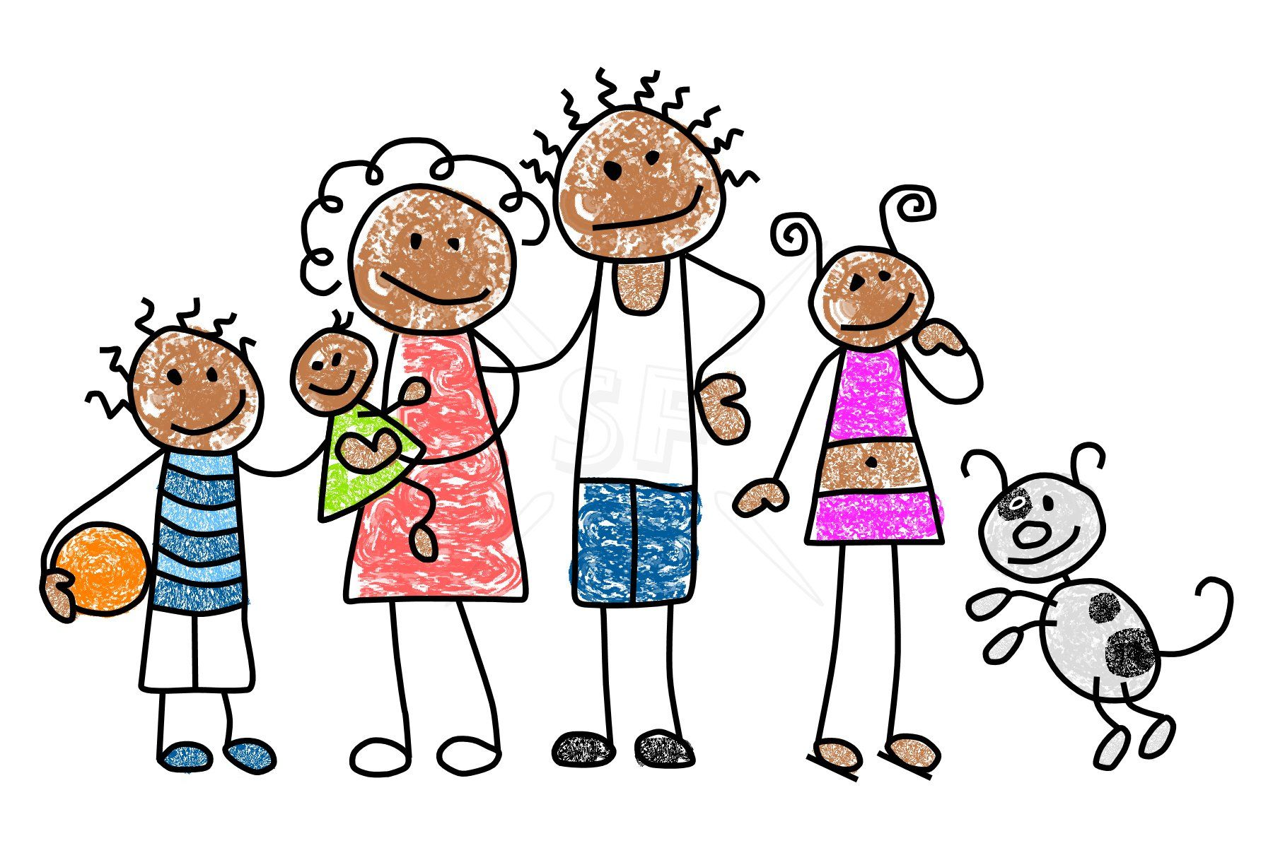family member mix n match stick figures clip art stick figures rh pinterest ca