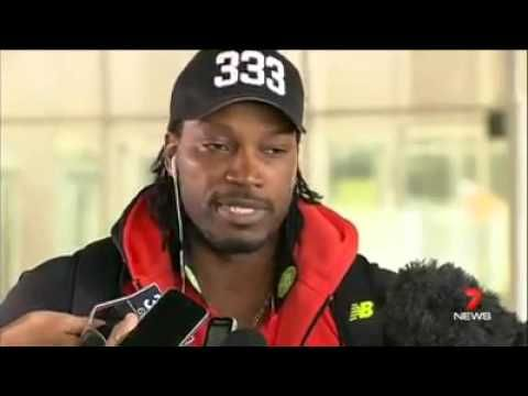 Chris Gayle apologises and criticised after asking out presenter Mel McL...