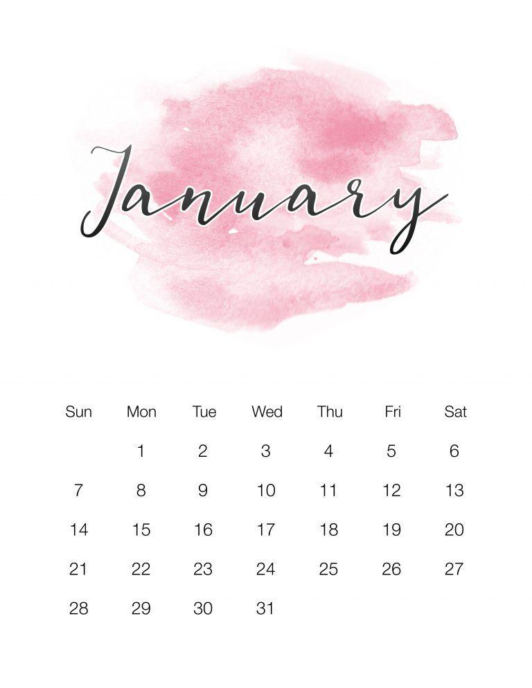 free printable 2018 watercolor wash calendar the cottage market
